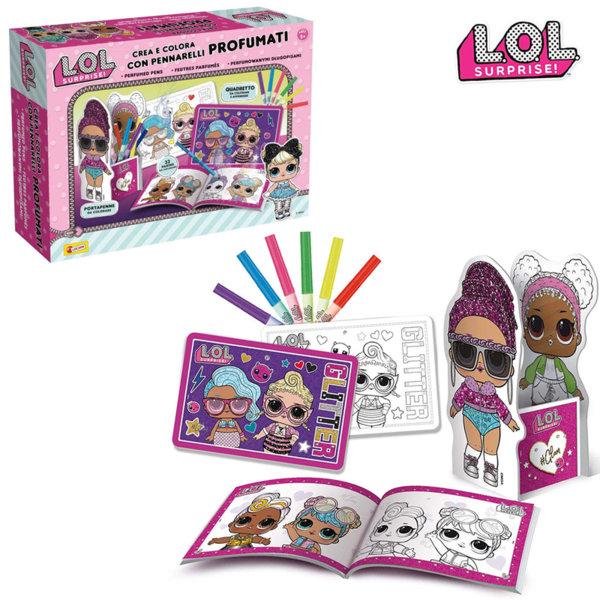 Lisciani LOL Surprise Комплект за оцветяване с ароматни маркери 75065