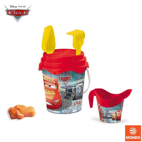 Mondo Disney Cars Детска кофа с лейка и формичка за пясък Дисни Колите 28457