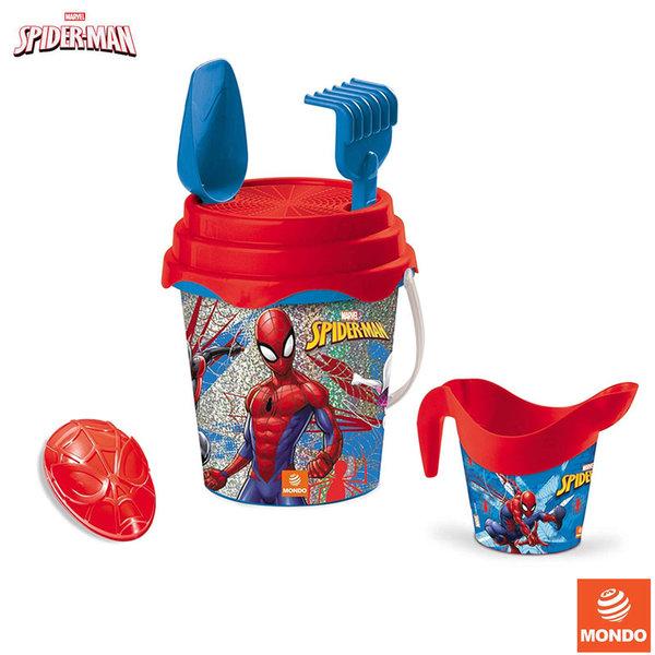 Mondo SpiderMan Детска кофа с лейка и формичка за пясък Спайдърмен 28598