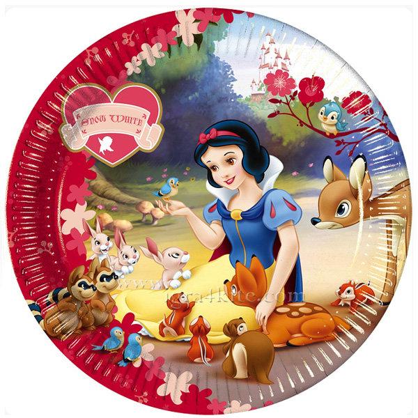 Procos - Принцеси Снежанка и седемте Джуджета Парти чинийки 23см 4962