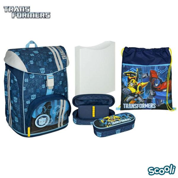 Scooli Transformers Ученическа ергономична раница Flex Трансформърс 27346