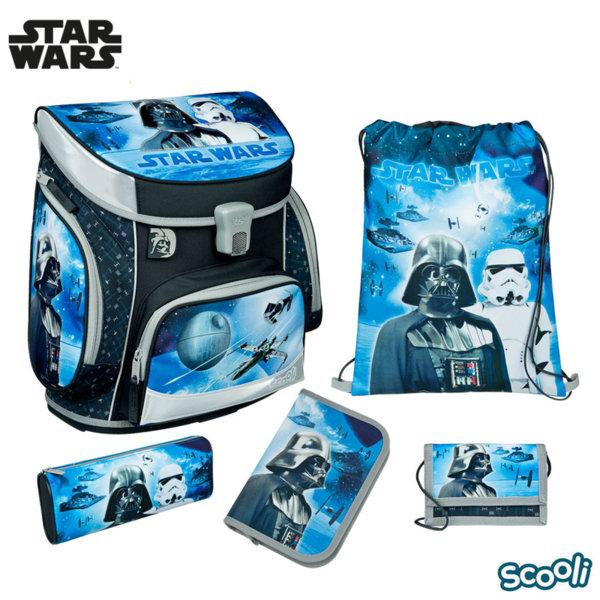 Scooli Star Wars Ученическа ергономична раница 5 части Междузвездни войни 28130