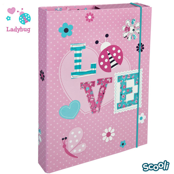 Scooli Ladybug Папка кутия с ластик Калинка 28348
