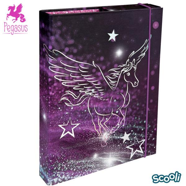 Scooli Pegasus Папка кутия с ластик Пегас 28357