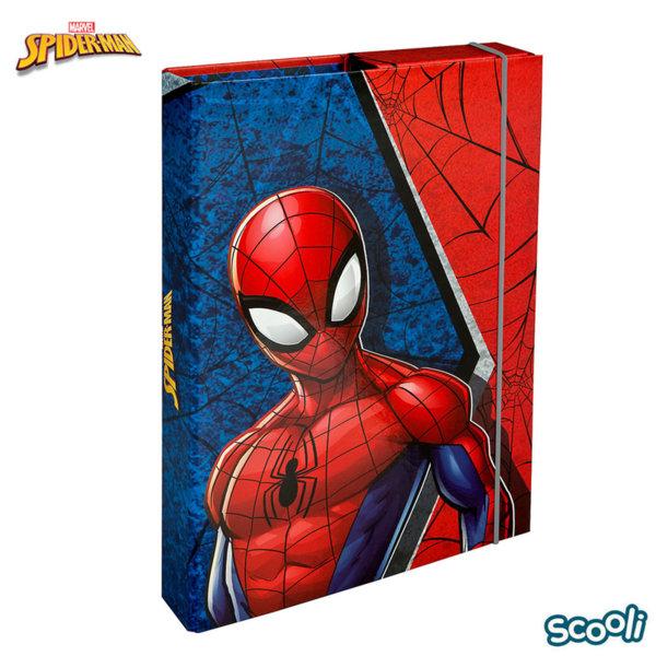 Scooli Spiderman Папка кутия с ластик Спайдърмен 28242