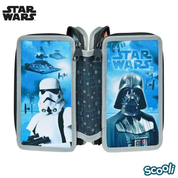 Scooli Star Wars Ученически несесер 3 ципа, зареден Междузвездни войни 28131