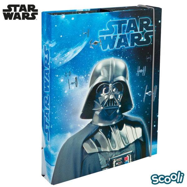 Scooli Star Wars Папка кутия с ластик Междузвездни войни 28233