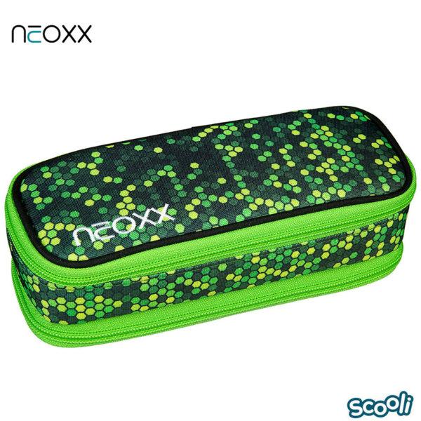 Scooli Neoxx Ученически несесер 1 цип зелен 28521