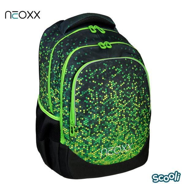 Scooli Neoxx Ученическа ергономична раница зелена 28523