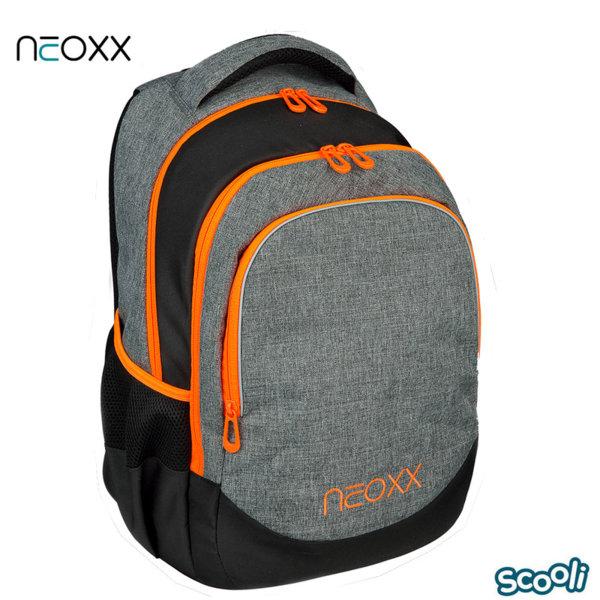 Scooli Neoxx Ученическа ергономична раница сива 28507