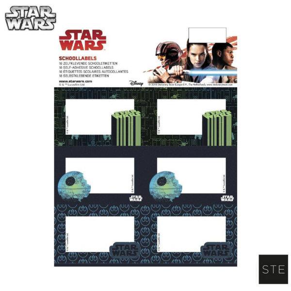 Star Wars Ученически етикети Междузвездни войни 06524