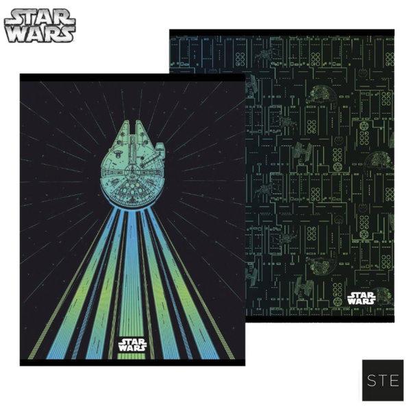 Star Wars Тетрадка A5, широк ред Междузвездни войни 06518