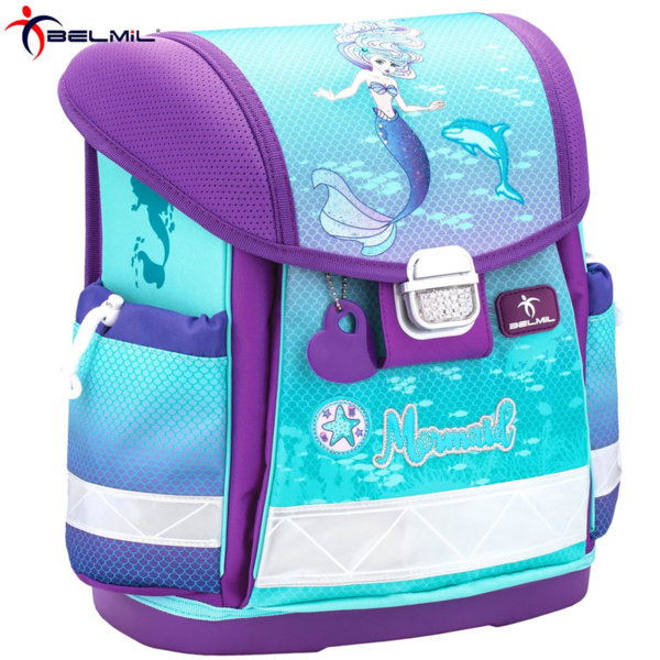 Belmil Ергономична ученическа раница CLASSY Purple Mermaid 403-13-32