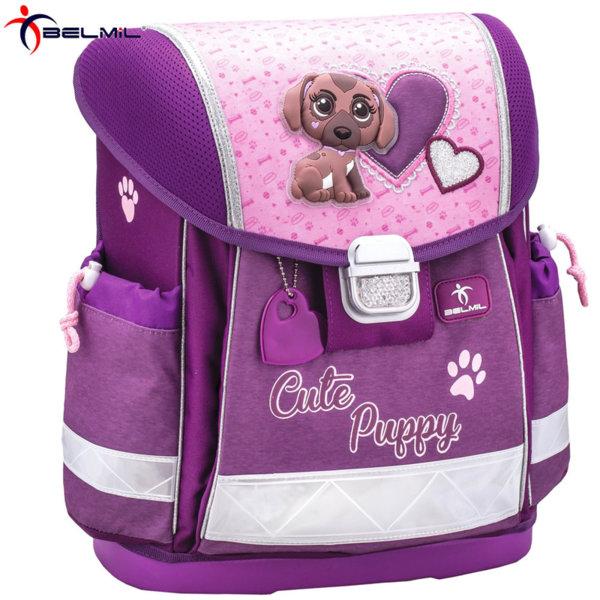 Belmil Ергономична ученическа раница CLASSY Cute Puppy 403-13-28