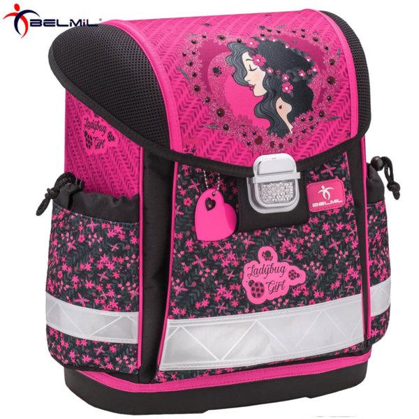 Belmil Ергономична ученическа раница CLASSY Ladybug Girl 403-13-36