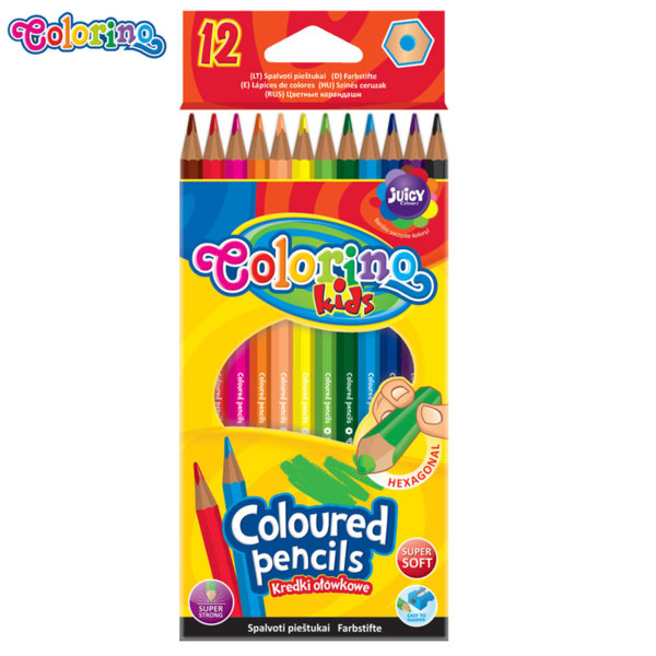 Colorino Kids Цветни моливи 12 цвята 14687