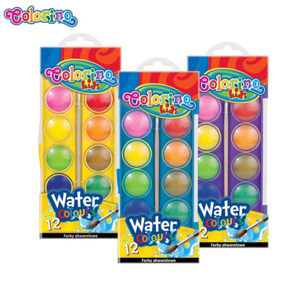 Colorino Kids Акварелни бои 12 цвята, голяма опаковка 41089