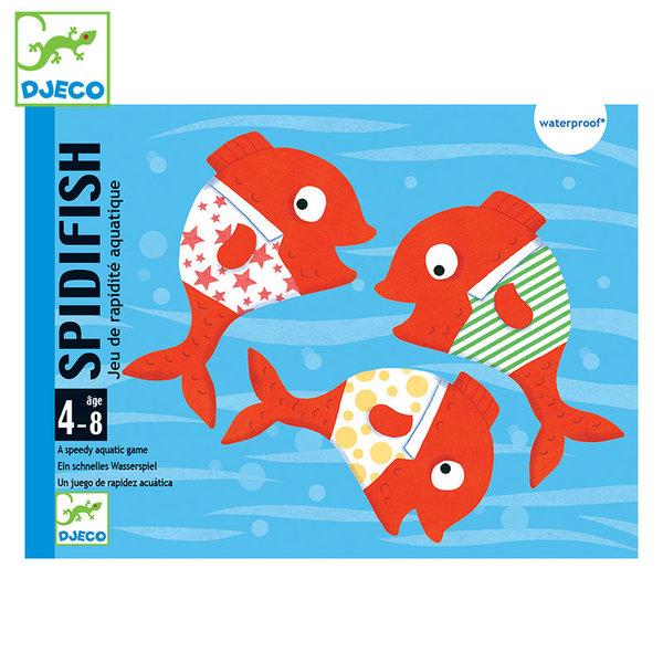 Djeco Водоустойчиви карти за игра Spidifish DJ05155