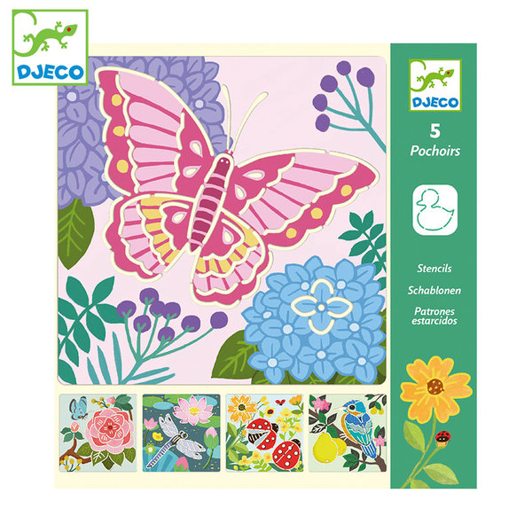 Djeco Шаблони за рисуване Garden wings DJ08816