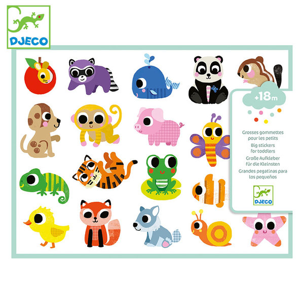 Djeco Бебешки стикери Baby animals DJ09084
