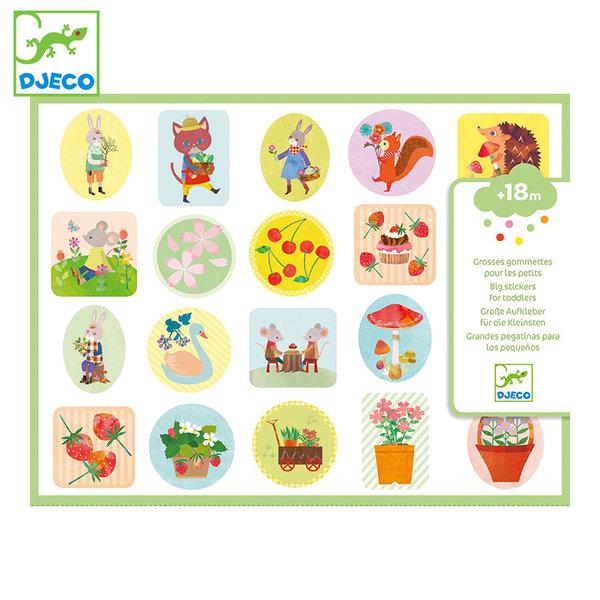 Djeco Бебешки стикери The garden DJ09087