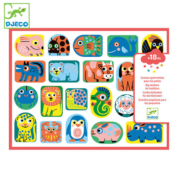 Djeco Бебешки стикери All shapes and sizes DJ09088