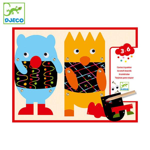 Djeco Комплект скреч карти Little Monsters DJ09090