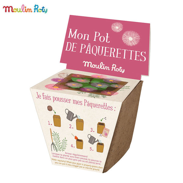 Moulin Roty Мини саксия със семена маргаритки 712380
