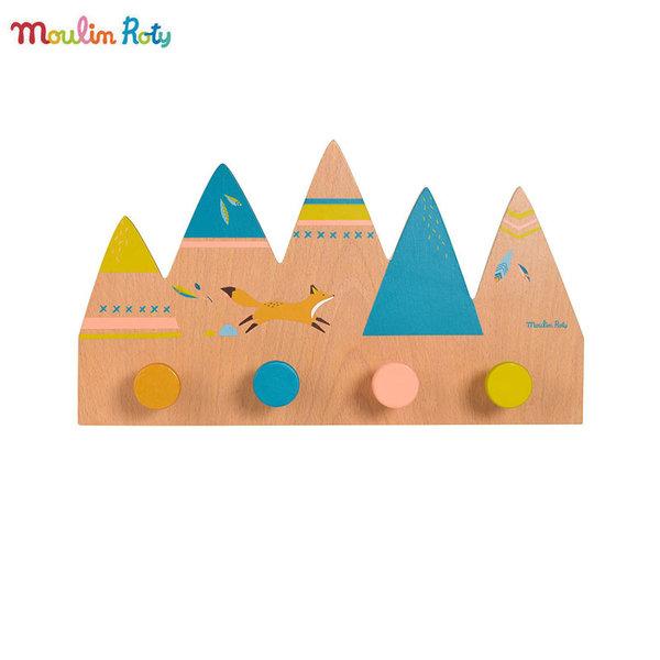 Moulin Roty Детска дървена закачалка 714140