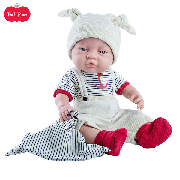 Paola Reina Кукла бебе момче Bebito, Los Bebitos 45см 05184