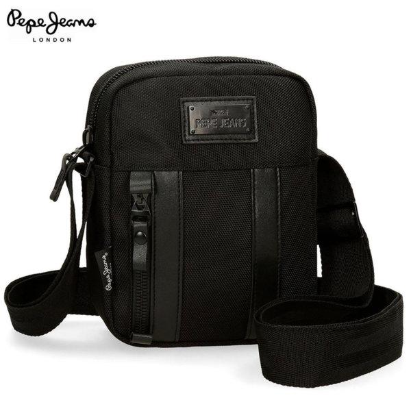 Pepe Jeans Allblack Малка мъжка чанта с дълга дръжка 78042