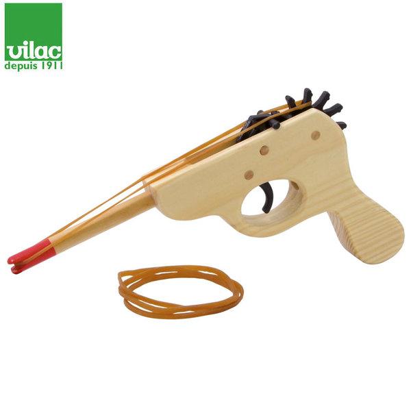 Vilac Детски дървен пистолет с ластик 10016