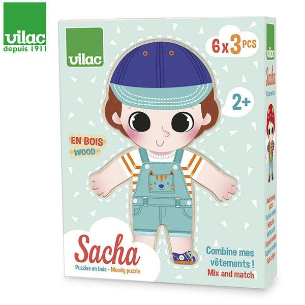Vilac Детски дървен пъзел с магнити Sacha 4661