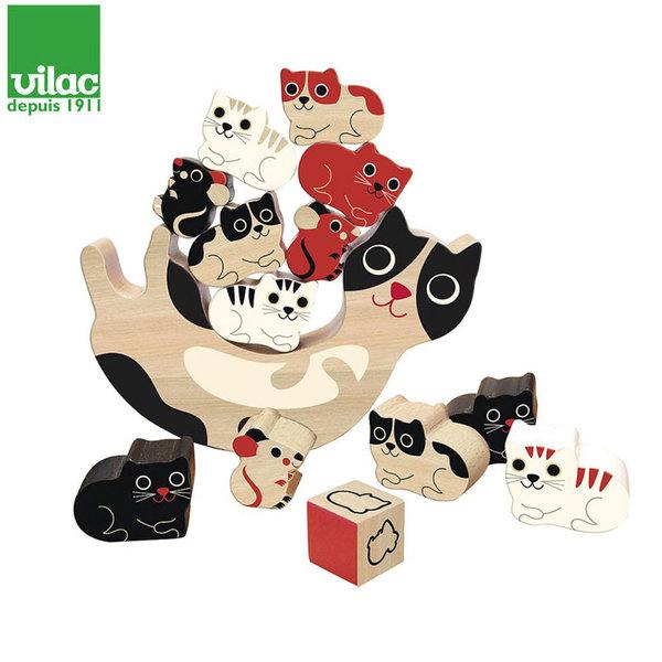 Vilac Дървена игра за баланс котенца 7778