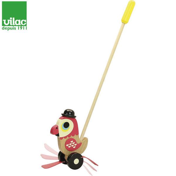 Vilac Дървено папагалче за бутане 7786