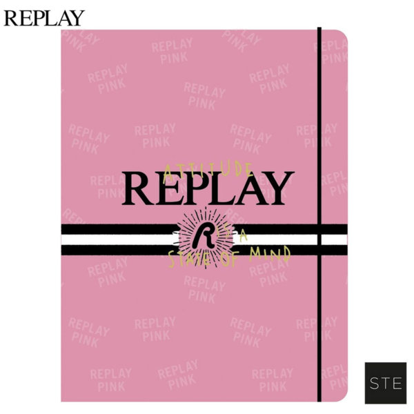 Replay Girls Pink Папка с ластик 06465