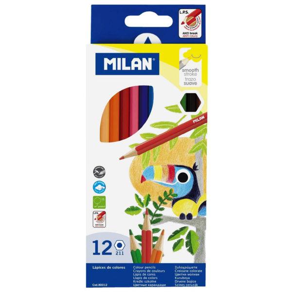 Milan Цветни моливи 12 цвята 80012