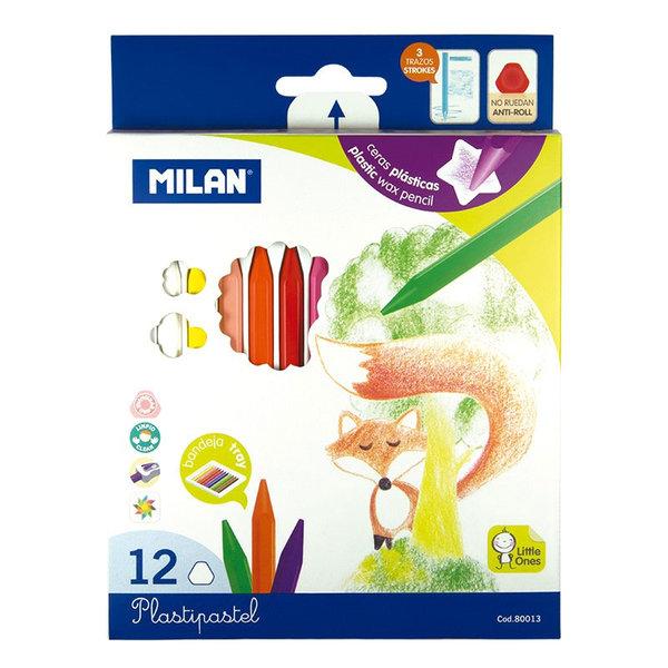 Milan Пластипастели 12 цвята 80013