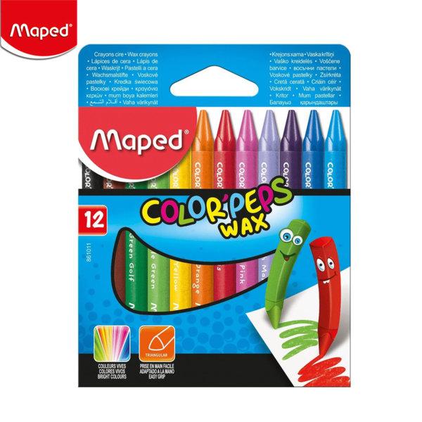 Maped Восъчни пастели 12 цвята 9861011