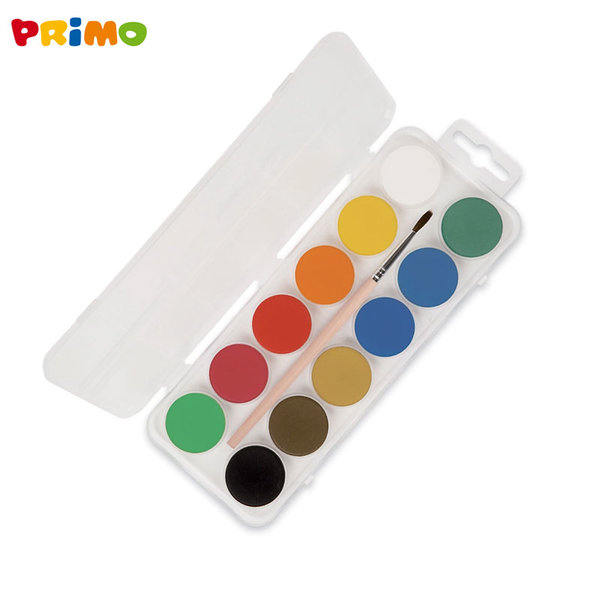 Primo Акварелни боички 12 цвята 118A12P