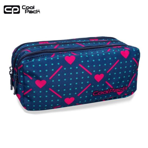 Cool Pack Primus Ученически несесер 3 ципа Heart link B60009
