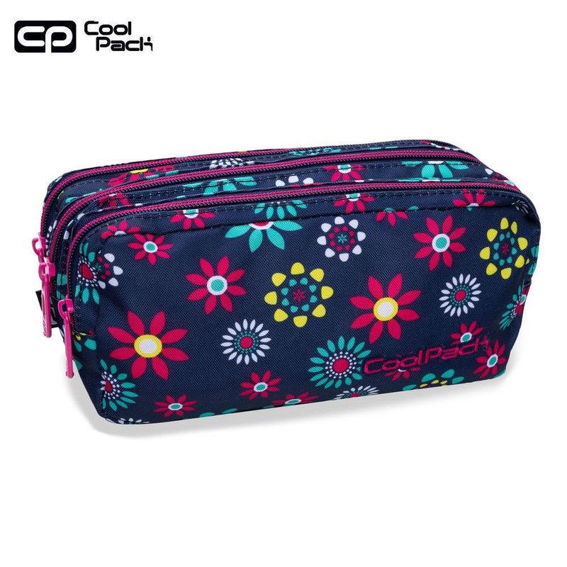 Cool Pack Primus Ученически несесер 3 ципа Hippie daisy B60015