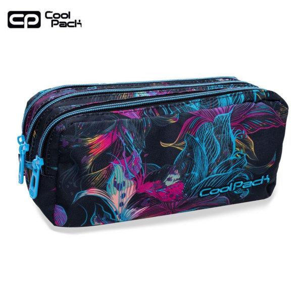Cool Pack Primus Ученически несесер 3 ципа Vibrant bloom B60017