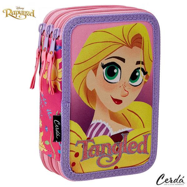 Disney Rapunzel Ученически несесер с 3 ципа, зареден Рапунцел 2700000228
