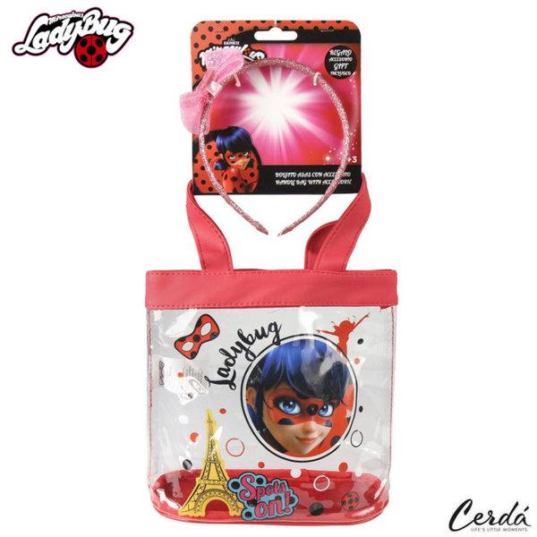 LadyBug Детска чанта с подарък диадема Калинката и черния котарак 2100002199