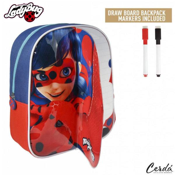 LadyBug Детска раница за оцветяване с маркери Калинката и черния котарак 2100002233