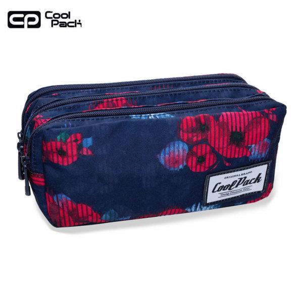 Cool Pack Primus Ученически несесер 3 ципа Red poppy B60025