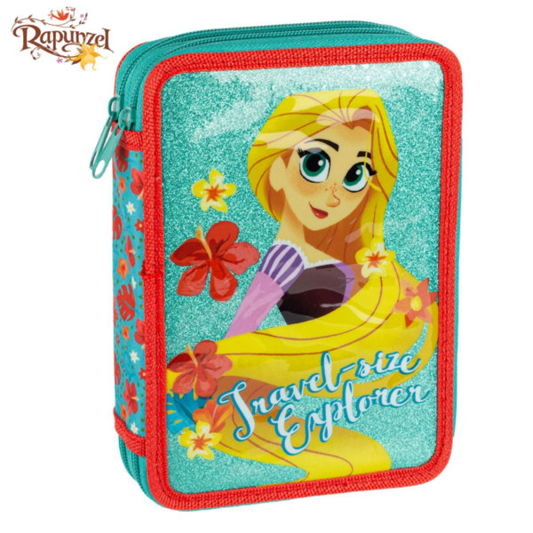 Disney Rapunzel Ученически несесер зареден 2 ципа Рапунцел 3D 81952