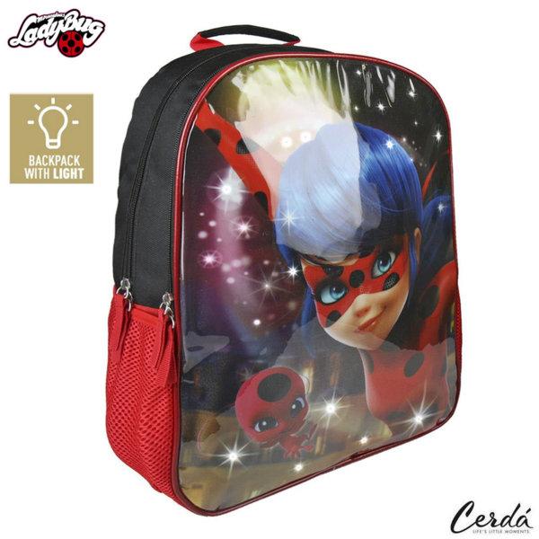 LadyBug Ученическа раница със светлинки Калинката и черния котарак 2100002023