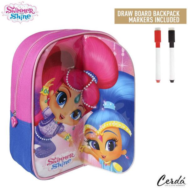 Shimmer and Shine Детска раница за оцветяване с маркери Искрица и Сияйница 2100002223